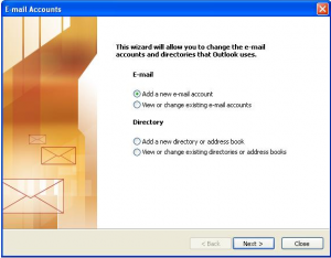 Emails Accounts Outlook 2003