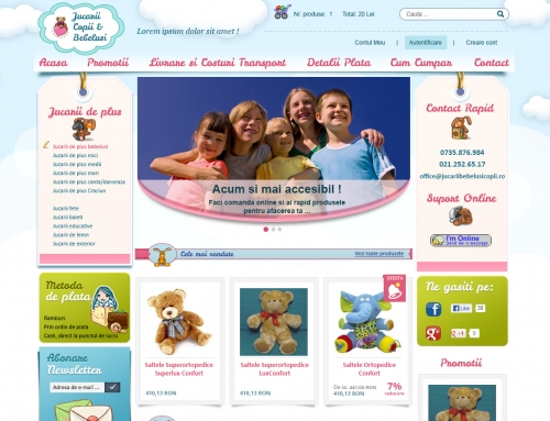 Jucarii pentru copii si bebelusi
